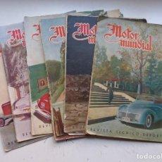 Coleccionismo deportivo: MOTOR MUNDIAL, 8 ANTIGUAS REVISTAS TECNICO DEPORTIVAS COCHES Y MOTOS, AÑOS 1940-1950, VER FOTOS. Lote 292537728