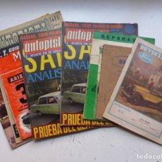 Coleccionismo deportivo: 10 ANTIGUAS REVISTAS Y CATALOGOS VARIOS DE COCHES Y MOTOS, VER FOTOS ADICIONALES. Lote 292538948