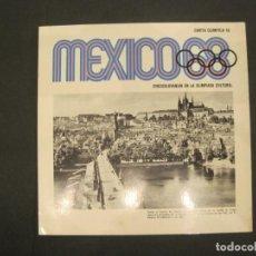 Coleccionismo deportivo: JUEGOS OLIMPICOS MEXICO 68-CARTA OLIMPICA 18-CHECOSLOVAQUIA EN LA OLIMPIADA-VER FOTOS-(V-22.947). Lote 293828658