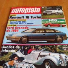 Coleccionismo deportivo: REVISTA AUTOPISTA. 7 ENERO 1984 NÚMERO 1277. Lote 297281818