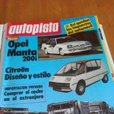 Coleccionismo deportivo: REVISTA AUTOPISTA 14 ENERO 1984. NÚMERO 1278. Lote 297283128