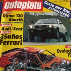 Coleccionismo deportivo: REVISTA AUTOPISTA, 21 ENERO 1984. NÚMERO 1279. Lote 297345513