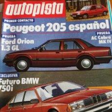 Coleccionismo deportivo: REVISTA AUTOPISTA. 28 ENERO 1984. NÚMERO 1280. Lote 297345918