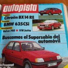 Coleccionismo deportivo: REVISTA AUTOPISTA. 11 FEBRERO 1984. NÚMERO 1282. Lote 297346793