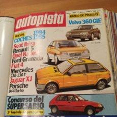 Coleccionismo deportivo: REVISTA AUTOPISTA. 3 MARZO 1984. NÚMERO 1285. Lote 297349478