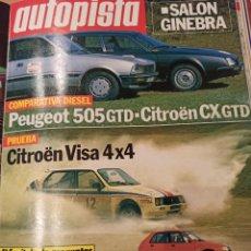 Coleccionismo deportivo: REVISTA AUTOPISTA. 10 MARZO 1984. NÚMERO 1286. Lote 297351613