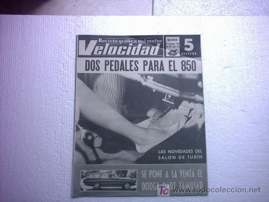 REVISTA VELOCIDAD Nº 270(DINO FERRARI,MONTESA 50 ,TURIN SALON DE CARROCEROS) (Coches y Motocicletas Antiguas y Clásicas - Revistas de Coches)