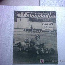 Coches: VELOCIDAD Nº91(EL GOGGOMOBIL,MARIO AMBROSONI,24 H DE KARTS EN BARCELONA,ROVER BRM). Lote 26606070