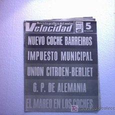 Coches: VELOCIDAD(EL ESCARABAJO,A.C COBRA,BARREIROS SIMCA 1100,DENIS HULME G.P DE ALEMANIA,LEYLAND). Lote 26654192