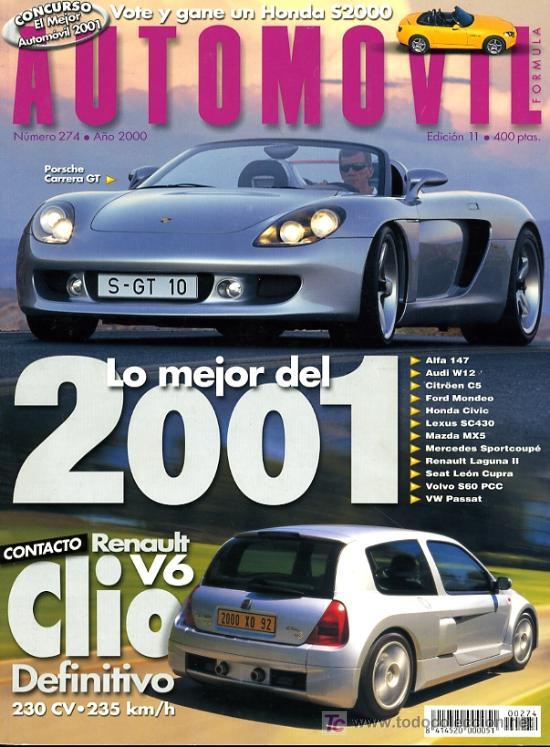 REVISTA AUTOMOVIL. Nº 274. NOVIEMBRE 2000. COMO NUEVA (Coches y Motocicletas Antiguas y Clásicas - Revistas de Coches)