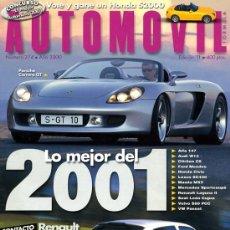 Coches: REVISTA AUTOMOVIL. Nº 274. NOVIEMBRE 2000. COMO NUEVA. Lote 25870346