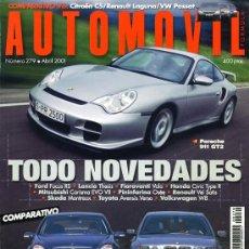 Coches: REVISTA AUTOMOVIL. Nº 279. ABRIL 2001. COMO NUEVA. Lote 17695606