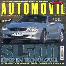 Coches: REVISTA AUTOMOVIL. Nº 287. DICIEMBRE 2001. COMO NUEVA. Lote 26163393