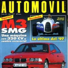 Coches: REVISTA AUTOMOVIL. Nº 231. ABRIL 1997. COMO NUEVA. Lote 27296703