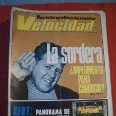 Coches: VELOCIDAD Nº 545 (19 FEBRERO 1972) GUZZI, SEAT, MERCEDES FURGONETAS.. Lote 26710991