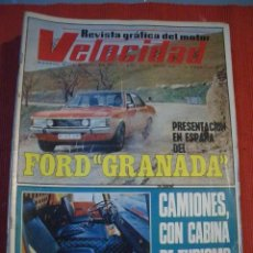 Coches: VELOCIDAD Nº 548 (11 MARZO 1972) FORD GRANADA, BARREIROS, ASTON MATIN. Lote 26710076