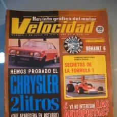 Coches: VELOCIDAD Nº 665 (8 JUNIO 1974) JAPAUTO, CRHYSLER 2 LITROS, RENAULT 6, BENELLI TORNADO. Lote 26799490