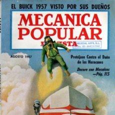 Coches: REVISTA MECANICA POPULAR - AGOSTO 1957. Lote 18661022