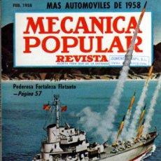 Coches: REVISTA MECANICA POPULAR - FEBRERO 1958. Lote 18661018