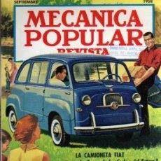 Coches: REVISTA MECANICA POPULAR - SEPTIEMBRE 1958. Lote 18696407