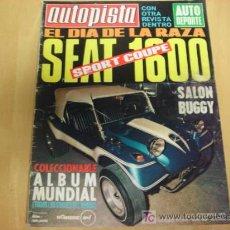 REVISTA AUTOPISTA NUM 605 12 / 19 DE SEPTIEMBRE DE 1970 SEAT 1600 SPORT COUPE OPEL 1600
