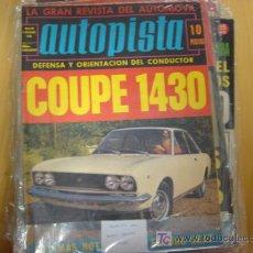 Coches: REVISTA AUTOPISTA NUMERO 565 6.12.1969.. Lote 6714368