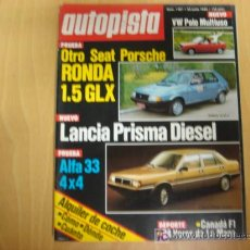 Coches: REVISTA AUTOPISTA NUMERO 1301 23 JUNIO 1984. Lote 7280500