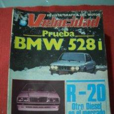 Coches: VELOCIDAD Nº 1061 (9 ENERO 1982) RENAULT 20, BMW 528I, MASERATI BITURBO, MAN. Lote 27008199