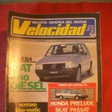 Coches: VELOCIDAD Nº 1154 (5 NOVIEMBRE 1984) FIAT UNO, VOLKSWAGEN PASSAT, HONDA PRELUDE. Lote 26690290