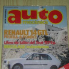 AUTOMECANICA Nº 123 - JUNIO 1980 - REVISTA AUTO MECANICA - RENAULT 14 / SEAT 127 5p