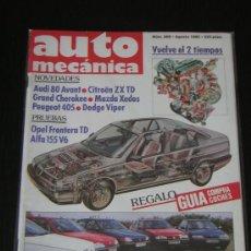 AUTOMECANICA Nº 269 - AGOSTO 1992 - REVISTA AUTO MECANICA - OPEL FRONTERA / ALFA 155 V6