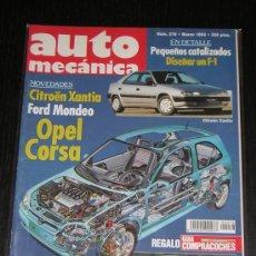 AUTOMECANICA Nº 276 - MARZO 1993 - REVISTA AUTO MECANICA - OPEL CORSA / BMW 740i V8 / ALFA 155 Q4
