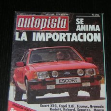 Coches: AUTOPISTA Nº 1144 - ABRIL 1981 - FORD / OPEL / LANCIA / BMW / SAAB. Lote 8354864