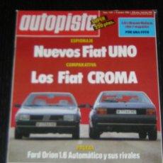 Coches: AUTOPISTA Nº 1421 - OCTUBRE 1986 - FIAT CROMA / FORD ORION 1.6 AUTOMATICO. Lote 11544818