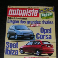 Coches: AUTOPISTA - Nº 1751 - FEBRERO 1993 - PORSCHE 911 TIPTRONIC / LANCIA THEMA V6 / ASTRA GLS / ROVER 114. Lote 8612952