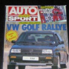 Coches: AUTO HEBDO SPORT Nº 235 - OCTUBRE 1989 - VOLKSWAGEN GOLF RALLYE / CITROEN BX 4X4. Lote 11757972