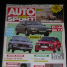 Auto: AUTO HEBDO SPORT Nº 244 - DICIEMBRE 1989 - CITROEN XM V6 / AUSTIN METRO / BMW 318 IS. Lote 8675275