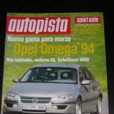 Carros: AUTOPISTA Nº 1787 - OCTUBRE 1993 - AUDI A8 / BMW 325 TDS / LEXUS GS 300. Lote 9103839