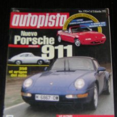 Coches: AUTOPISTA Nº 1795 - DICIEMBRE 1993 - RENAULT SAFRANE RXE V6 / PORSCHE 911 CARRERA / HYUNDAI SONATA. Lote 8692334