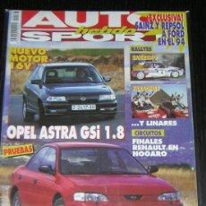 Coches: AUTO HEBDO SPORT Nº 436 - OCTUBRE 1993 - OPEL ASTRA GSI / SUBARU IMPREZA GL 4WD. Lote 8776983