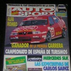 Coches: AUTO HEBDO SPORT Nº 461 - ABRIL 1994 - FIAT CINQUECENTO COPA / ALFA ROMEO / MERCEDES SLK. Lote 8777312