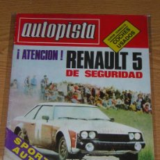 Coches: AUTOPISTA Nº 1059 - JUNIO 1979 - RENAULT 5 / RALLYES. Lote 8992958