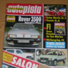 Coches - AUTOPISTA Nº 1242 - MAYO 1983 - ROVER 3500 VANDEN PLAS / SALON BARCELONA / ASTON MARTIN GR C - 52961016