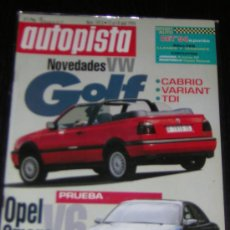 Coches: AUTOPISTA Nº 1813 - ABRIL 1994 - OPEL OMEGA V6 / VW GOLF. Lote 47005971