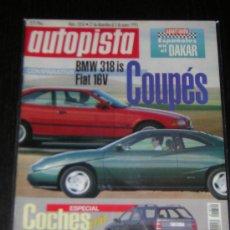 Coches: AUTOPISTA Nº 1850 - DICIEMBRE 1994 - BMW 318 IS / FIAT COUPE 16V / DAKAR. Lote 9001958