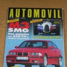 Coches: AUTOMOVIL Nº 231 - ABRIL 1997 - BMW M3 SMG / PEUGEOT 306 GTI / CITROEN ZX 16V / HONCA CIVIC VTI. Lote 9141259