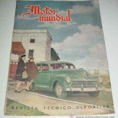Coches: ANTIGUA REVISTA MOTOR MUNDIAL Nº 44 - ENERO DE 1948 - 42 PAG. APROX. - MIDE 34 X 24,5 CMS - MUCHAS F. Lote 22117999