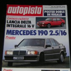 AUTOPISTA Nº 1555 - MAY 1989 - LANCIA DELTA INTEGRALE 16v / MERCEDES 190 2.5 16 / MAHINDRA CJ4 D