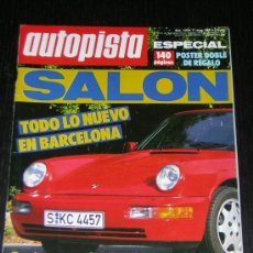 Coches: AUTOPISTA Nº 1556 - MAY 1989 - SALON DE BARCELONA / FORD FIESTA 1.8 D / PEUGEOT 405 FAMILIAR. Lote 12625301