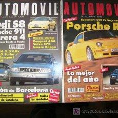 Coches: AUTOMVIL-FORMULA. Nº 210 Y 211/1995. FERRARI 355,PORCHE C-4. BMW 328I, Z3.LOMBARGHINI CALÁ, MASERATI. Lote 25850907